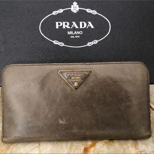 Prada large wallet leather